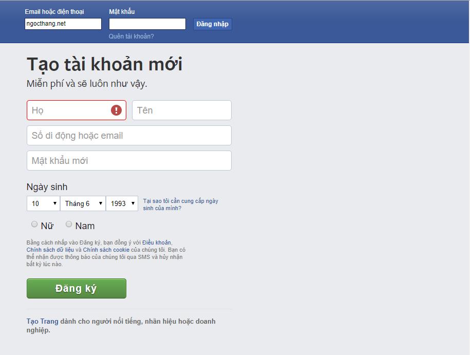 Đăng nhập tài khoản fb để lọc bạn bè