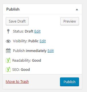 Chỉnh xanh seo trong wordpress
